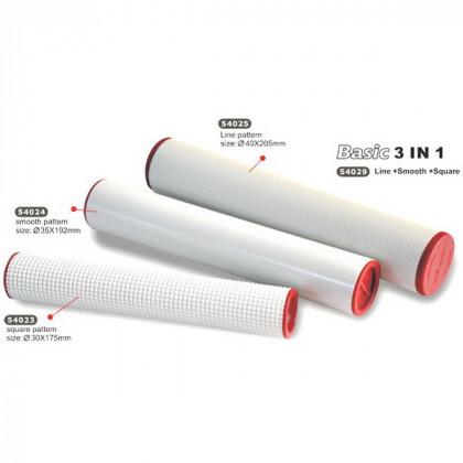 Набор роликов для раскатки глины/3 шт в блистере