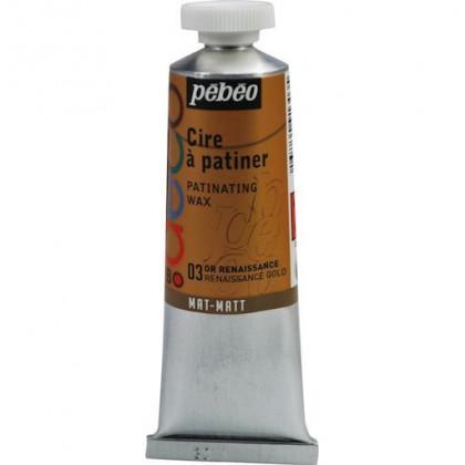 Металлическая  краска-вакса Pebeo/Золото ренессанс/туба 37мл