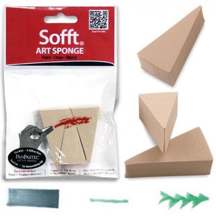 Набор клиновидных спонжей  Art Sponge PanPastel, 3 шт. в полиэт. упаковке