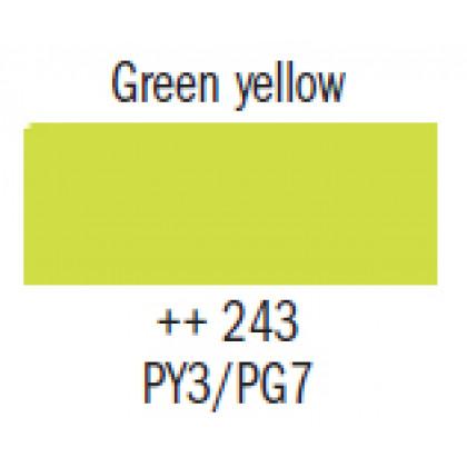 Гуашь худ. зеленовато-желтая