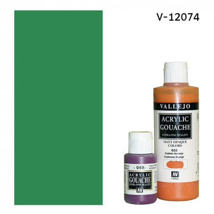 Гуашь-темпера Vallejo/Изумрудно-зеленый