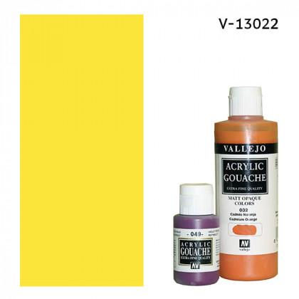 Гуашь-темпера Vallejo/Кадмий желтый золотистый