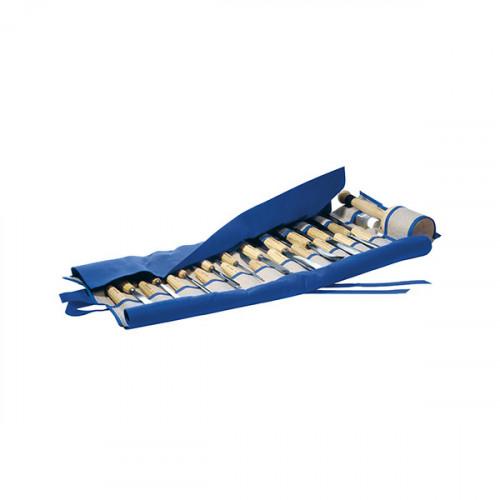 Набор полноразмерных стамесок в свитке Pfeil Ro25 (25 шт)